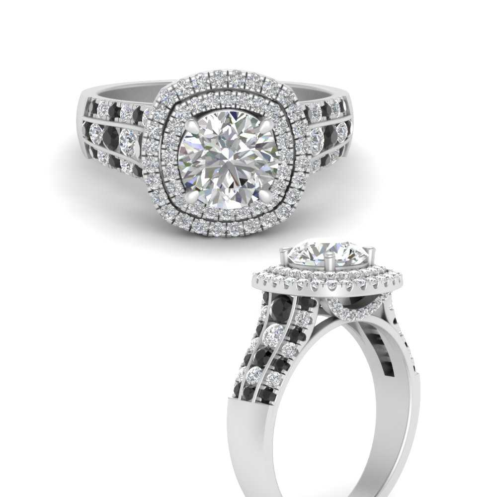 estate-vintage-double-halo-engagement-ring-with-black-diamond-in-FD9824RORGBLACKANGLE3-NL-WG