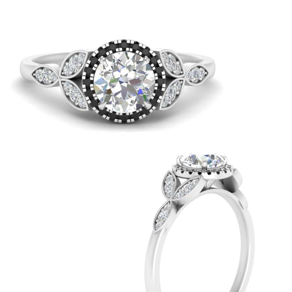leaves-round-cut-halo-engagement-ring-with-black-diamond-in-FD9827RORGBLACKANGLE3-NL-WG
