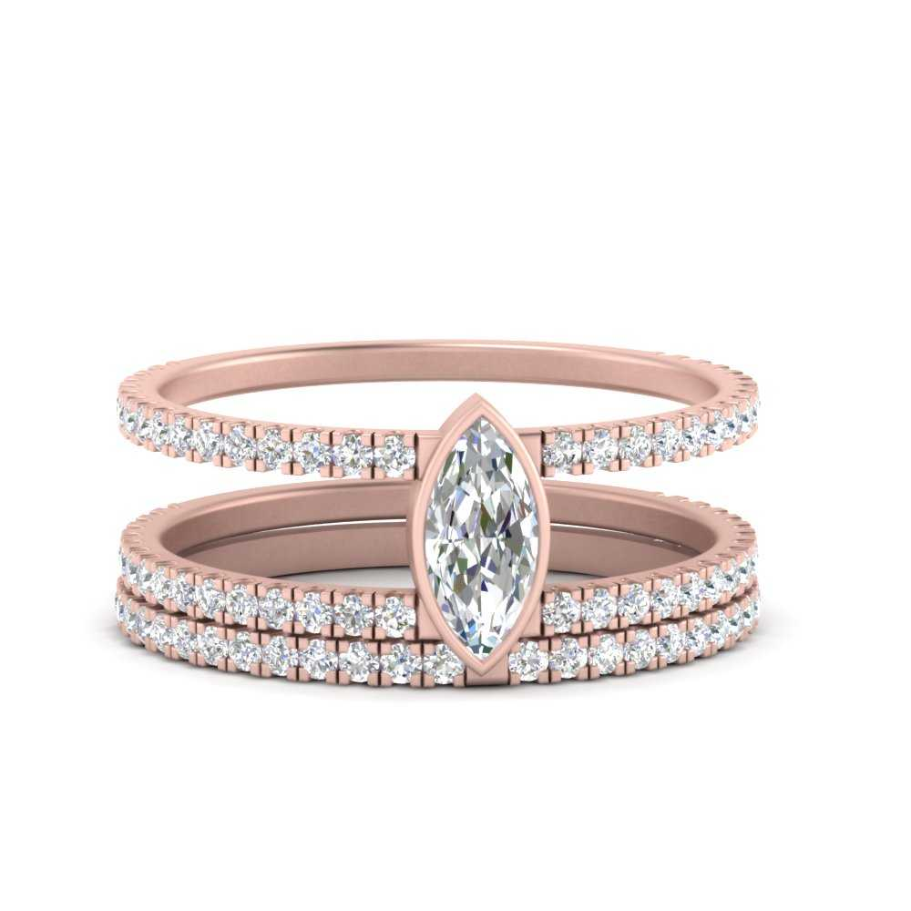 double-band-marquise-diamond-bezel-wedding-set-in-FD9834MQ-NL-RG