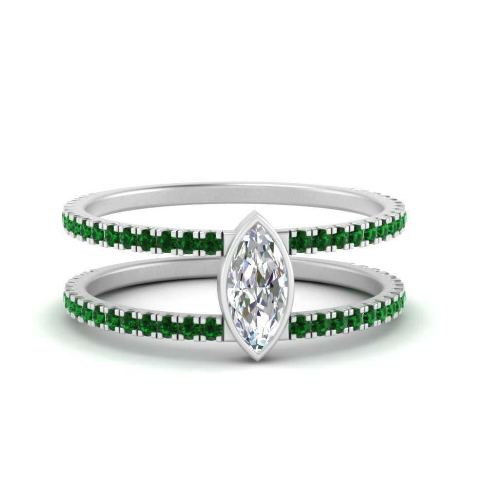 marquise-bezel-set-emerald-engagement-ring-in-FD9834MQRGEMGR-NL-WG