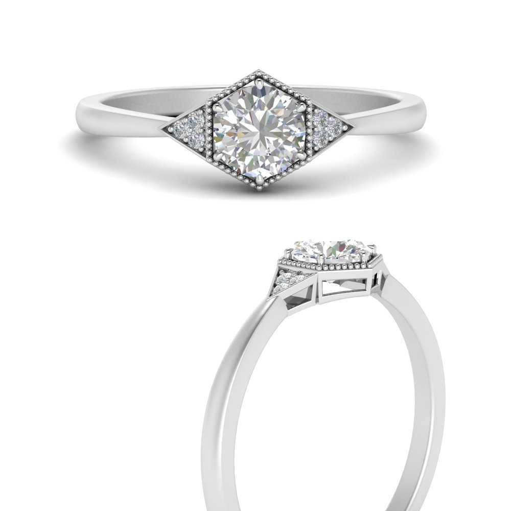 round-hexagon-lab diamond-cluster-engagement-ring-in-FD9845RORANGLE3-NL-WG