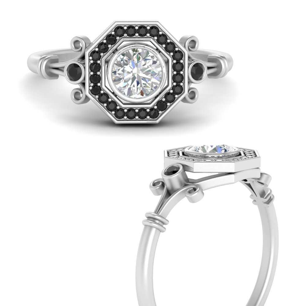 octagon-round-halo-art-deco-black-lab diamond-engagement-ring-in-FD9849RORGBLACKANGLE3-NL-WG