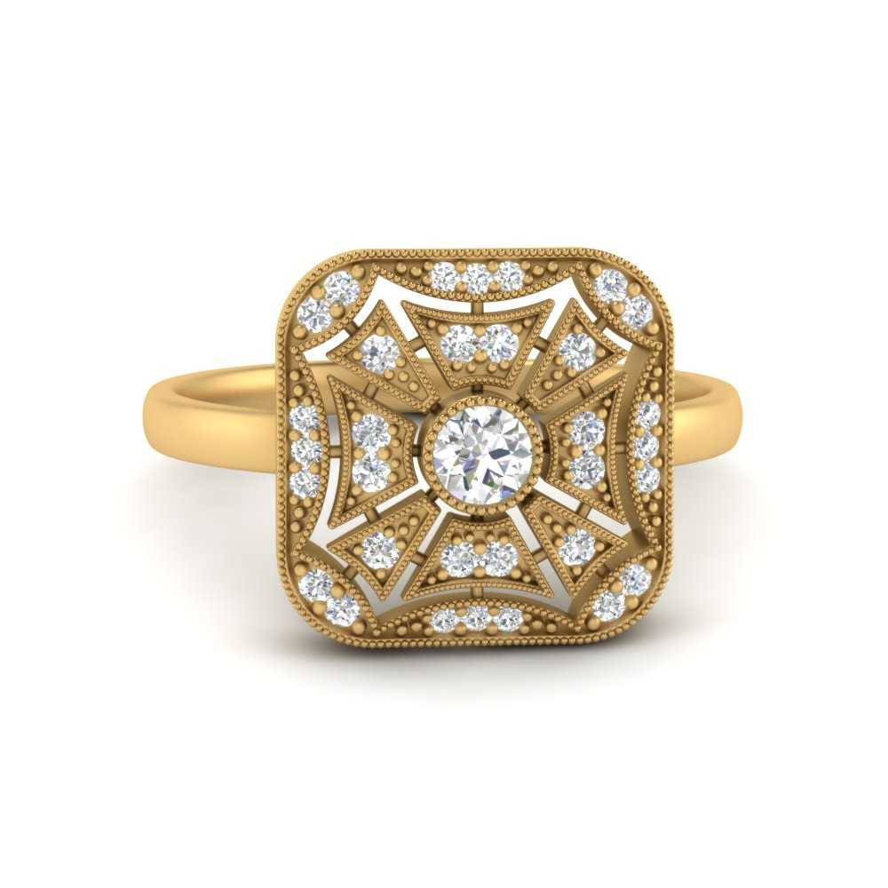 square-antique-diamond-engagement-ring-in-FD9850ROR-NL-YG