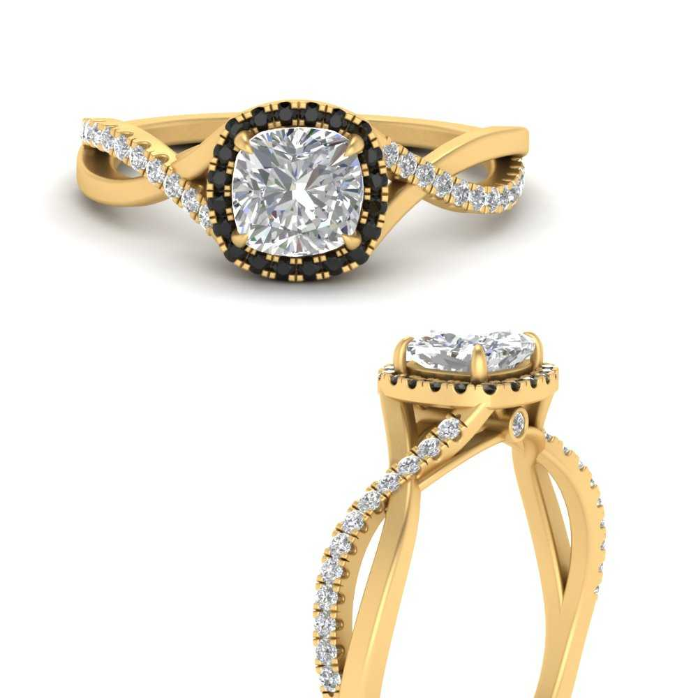 cushion-infinity-halo-black-diamond-intertwined-engagement-ring-in-FD9872CURGBLACKANGEL3-NL-YG