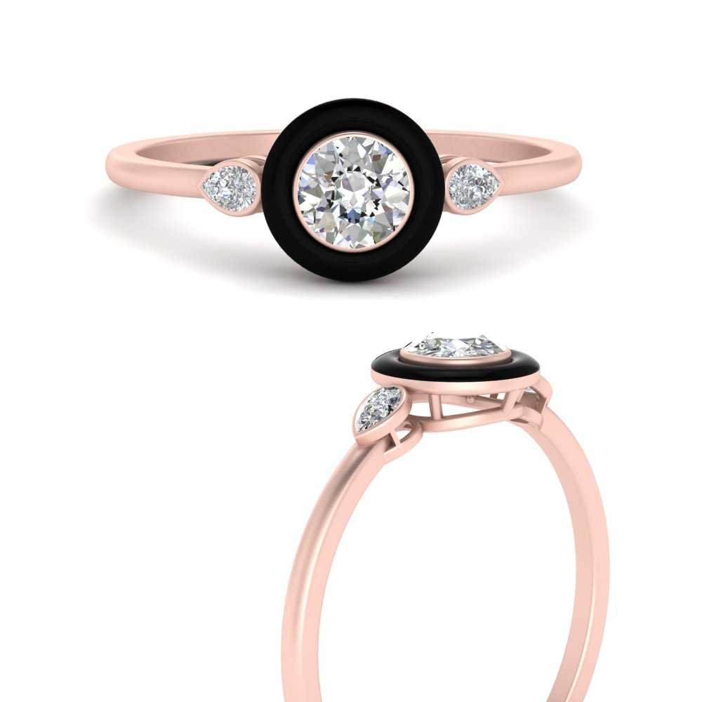 round-enamel-3-stone-diamond-engagement-ring-in-FD9874RORANGLE3-NL-RG