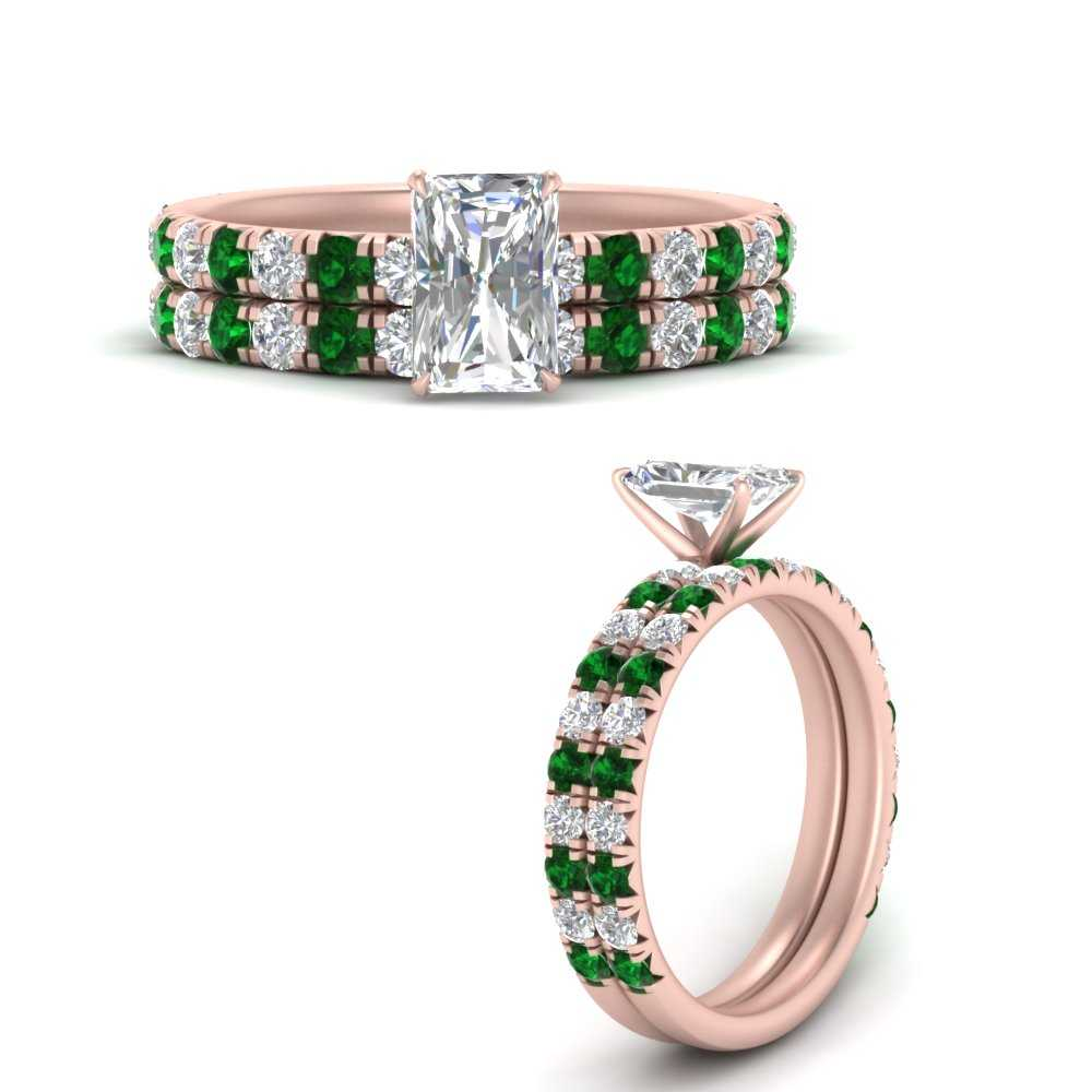 radiant-cut-classic-pave-diamond-wedding-ring-set-with-emerald-in-FD9877RAGEMGRANGEL3-NL-RG