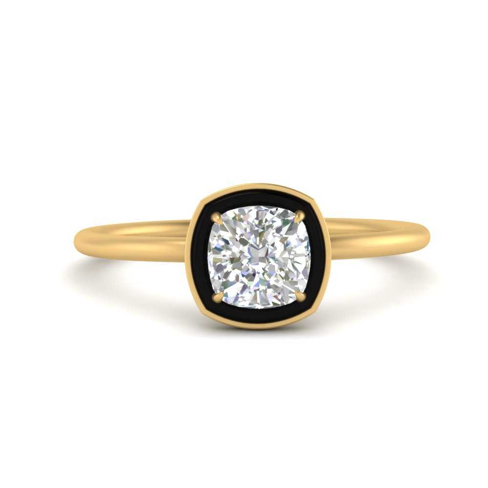 cushion-cut-solitaire-enamel-diamond-ring-in-FD9880CUR-NL-YG