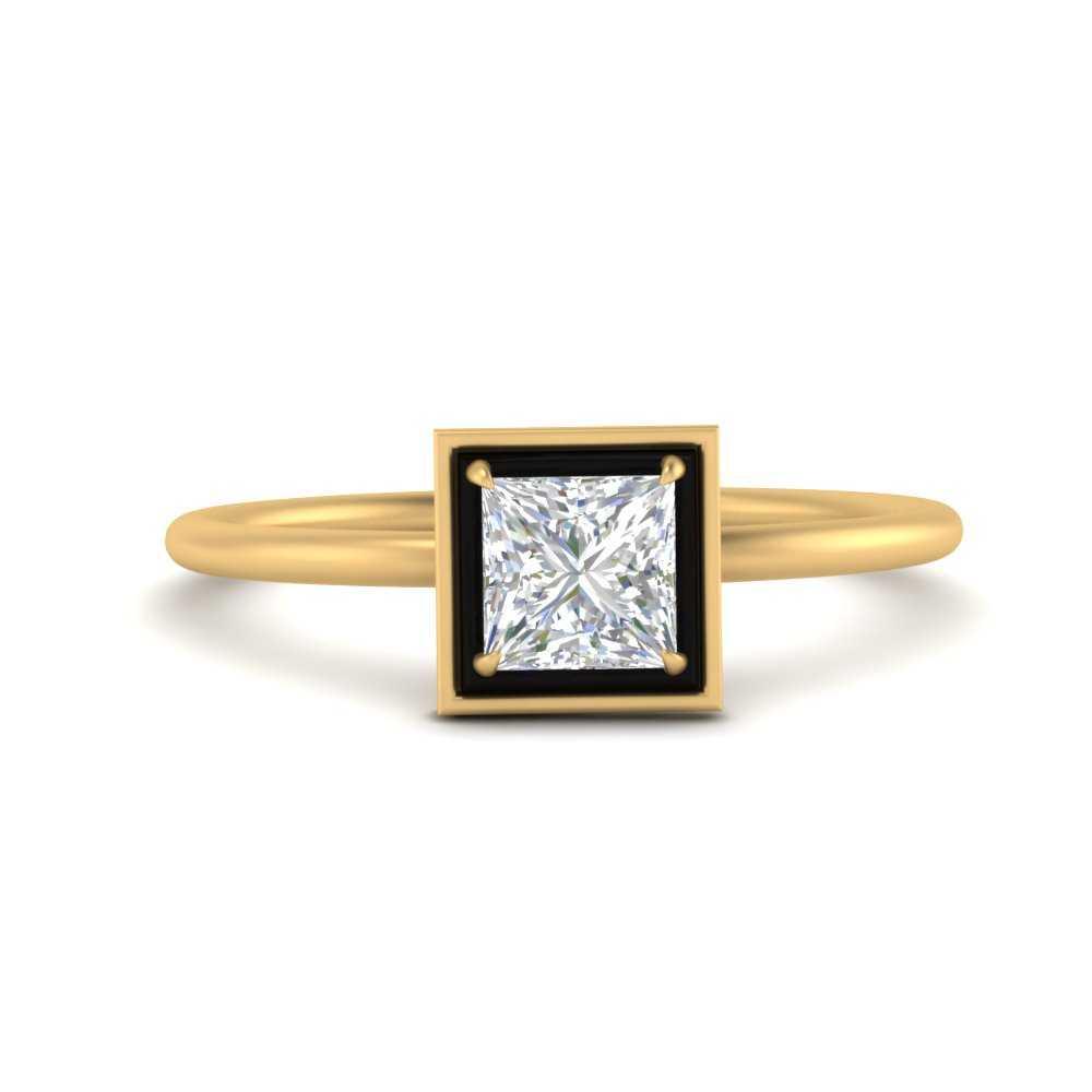 princess-cut-solitaire-enamel-diamond-ring-in-FD9880PRR-NL-YG
