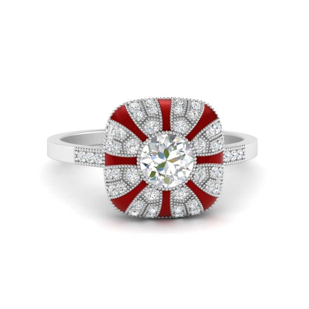 bezel-set-red-enamel-round-big-engagement-ring-in-FD9883RORGRUDR-NL-WG