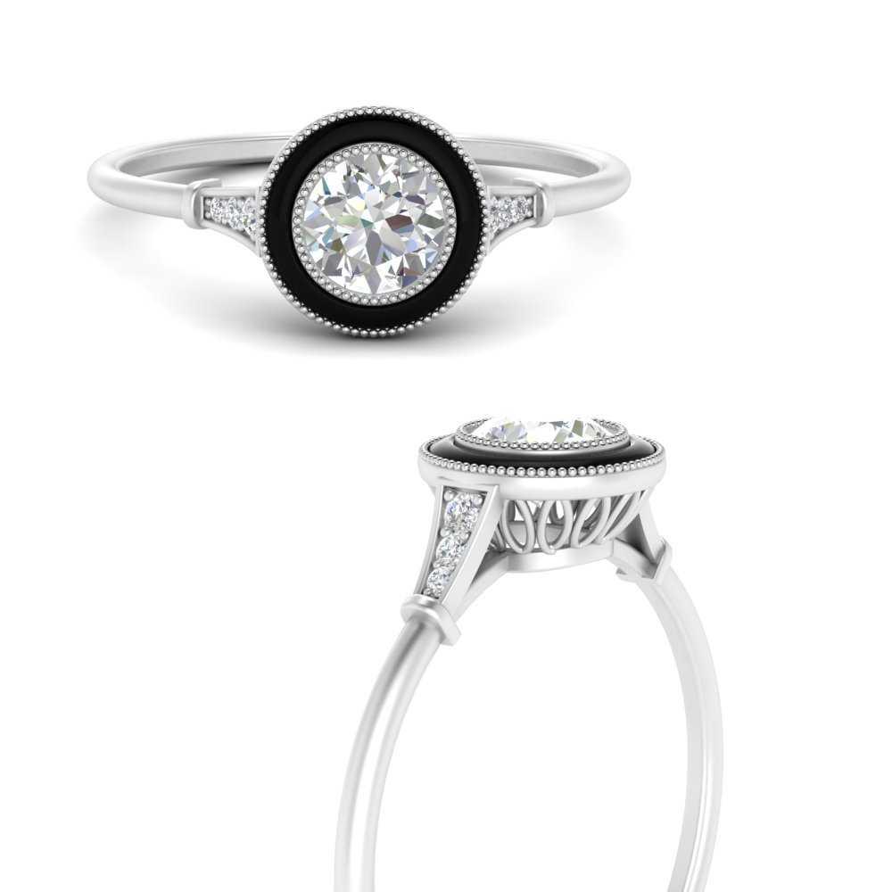round-enamel-diamond-vintage-style-engagement-ring-in-FD9886RORANGLE3-NL-WG