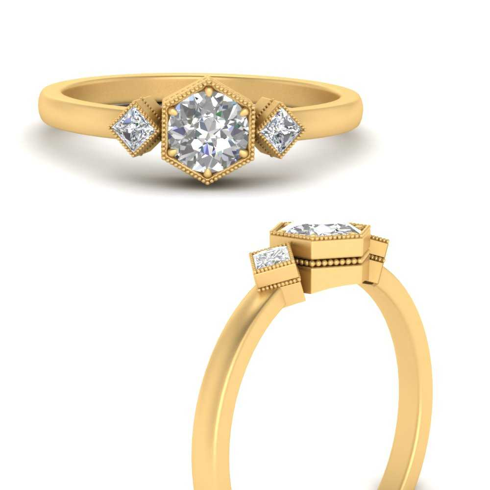 hexagon-bezel-3-stone-diamond-engagement-ring-in-FD9944RORANGEL3-NL-YG