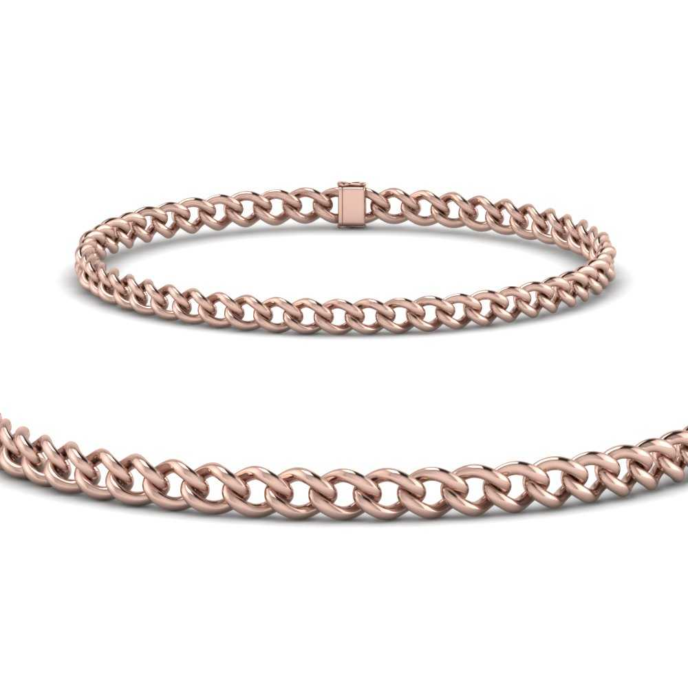 4-mm-cuban-chain-link-bracelet-for-women-in-FDBRC9484-4mm-ANGLE2-NL-RG