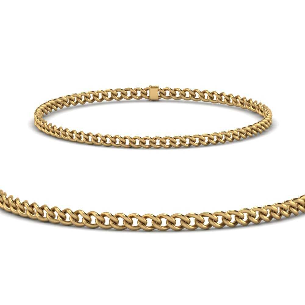 cuban-3-mm-link-chain-bracelet-in-FDBRC9484-3mm-ANGLE2-NL-YG