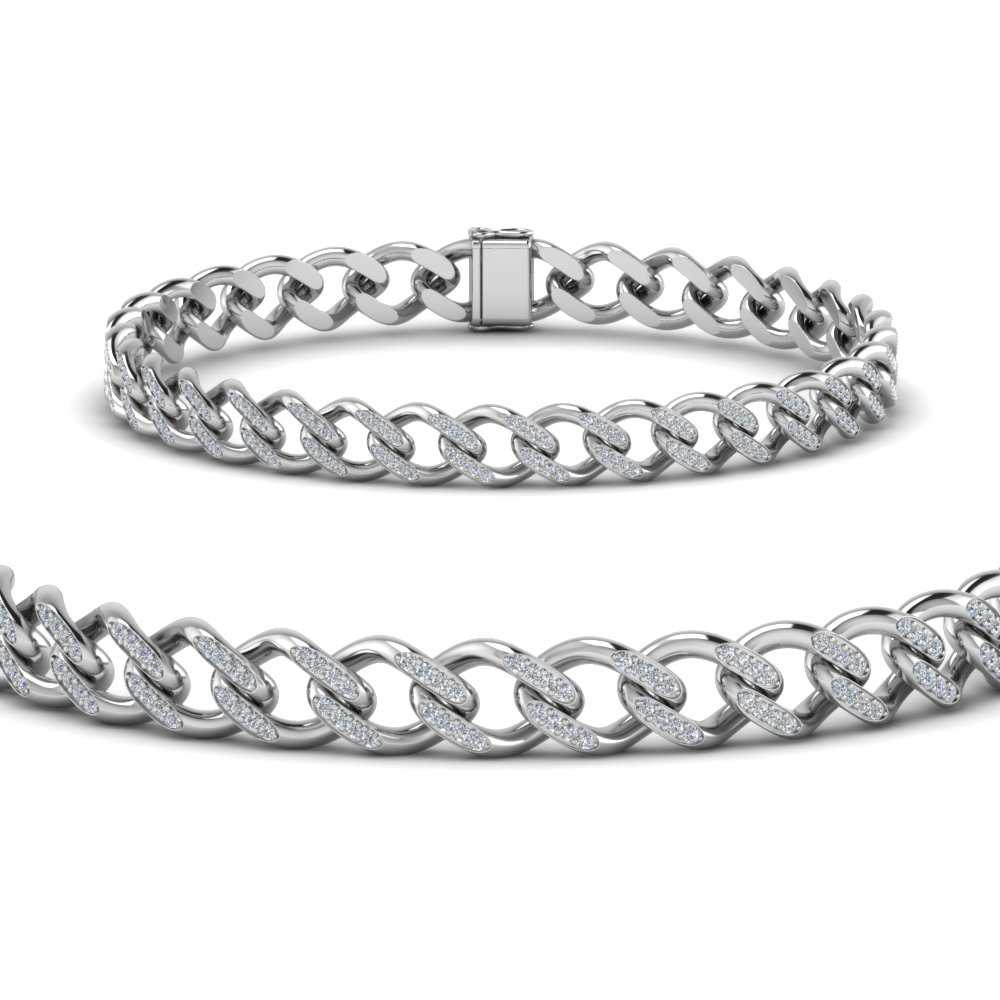 cuban-diamond-gold-bracelet-in-FDBRC9488-9MM-ANGLE2-NL-WG