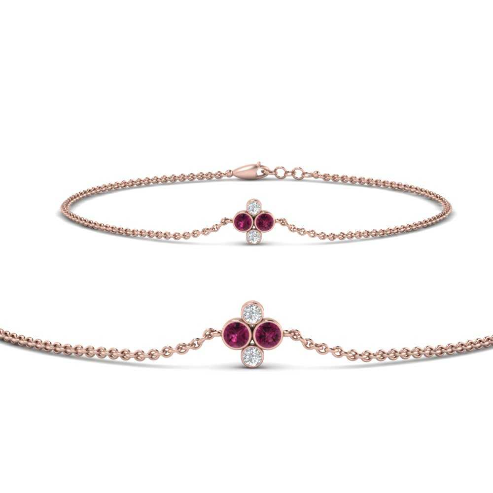 chain-four-diamond-stacking-bracelet-with-pink-sapphire-in-FDBRC9628GSADRPIANGLE2-NL-RG