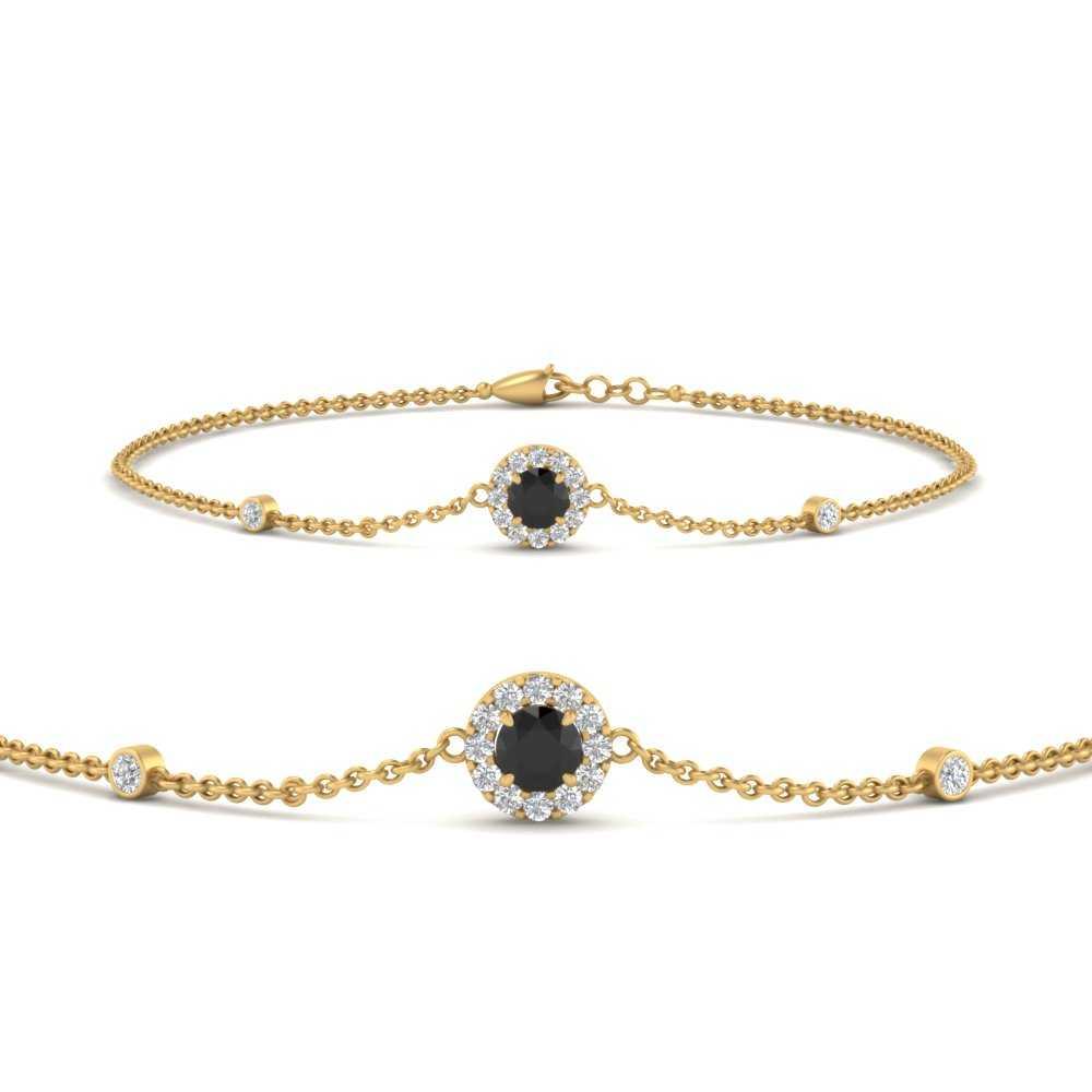 round-halo-chain-black-diamond-bracelet-in-FDBRC9637GBLACKANGLE2-NL-YG