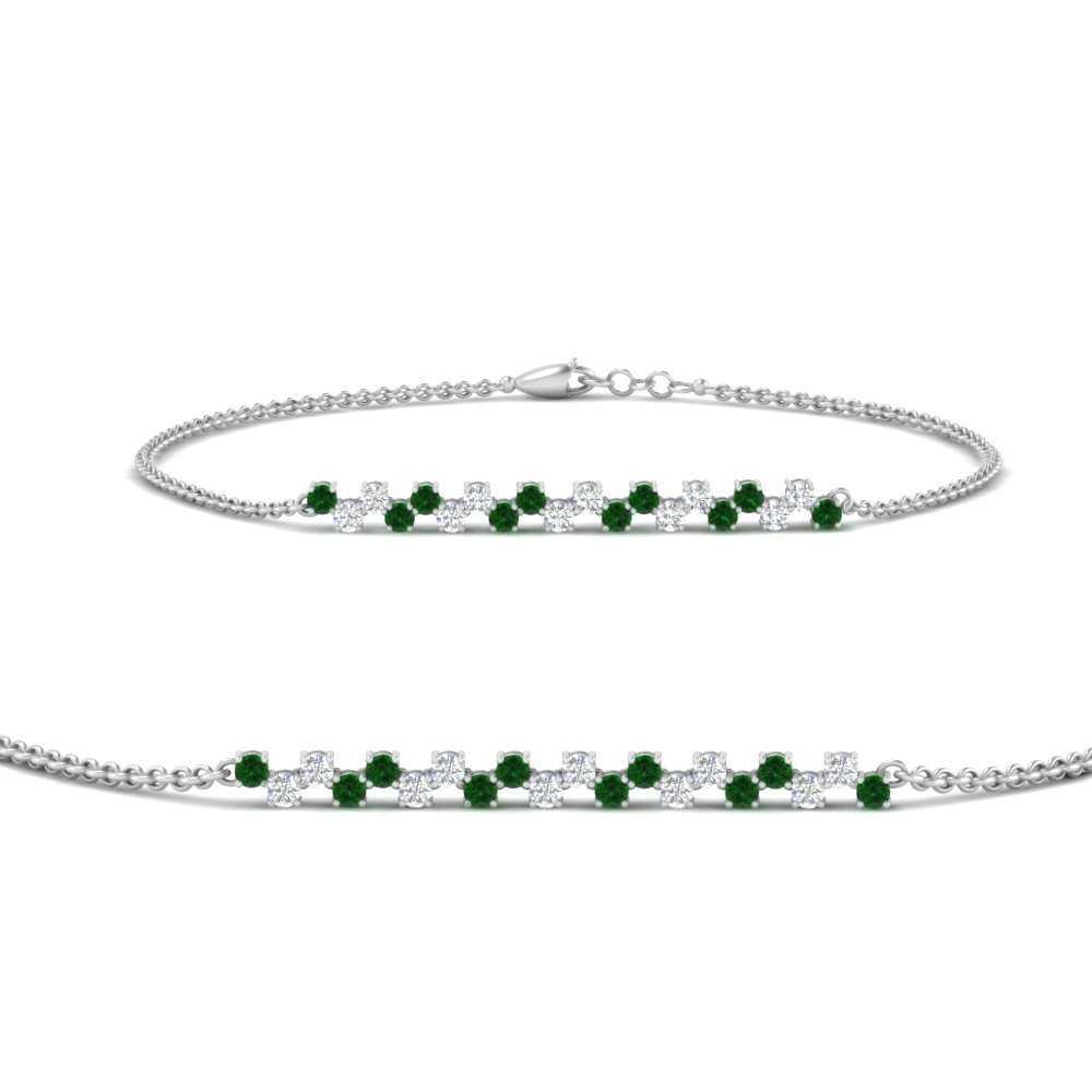 delicate-round-diamond-chain-bracelet-with-emerald-in-FDBRC9638GEMGRANGLE2-NL-WG