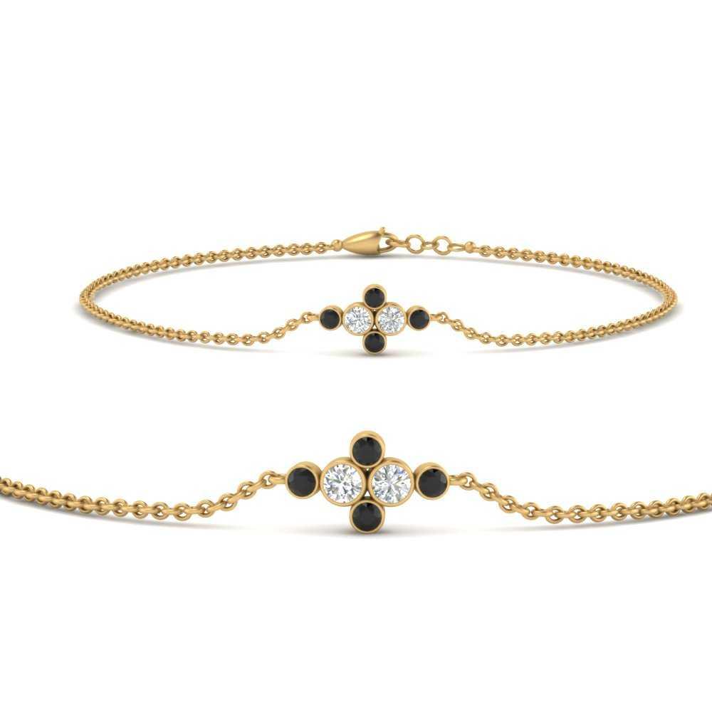 bezel-set-chain-bracelet-with-black-diamond-in-FDBRC9648GBLACKANGLE1-NL-YG