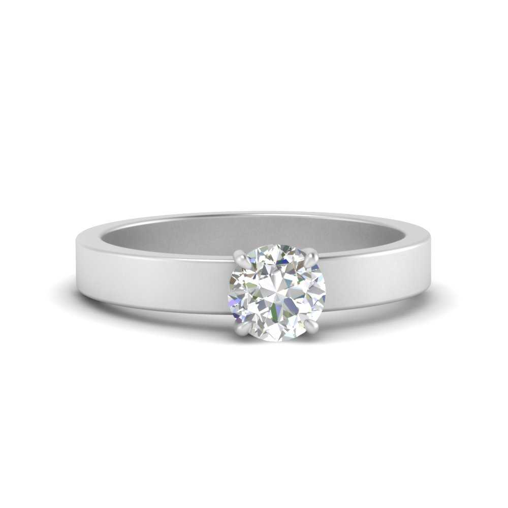 flat-band-simple-round-cut-solitaire-lab diamond engagement-ring-in-FDENR1843ROR-NL-WG