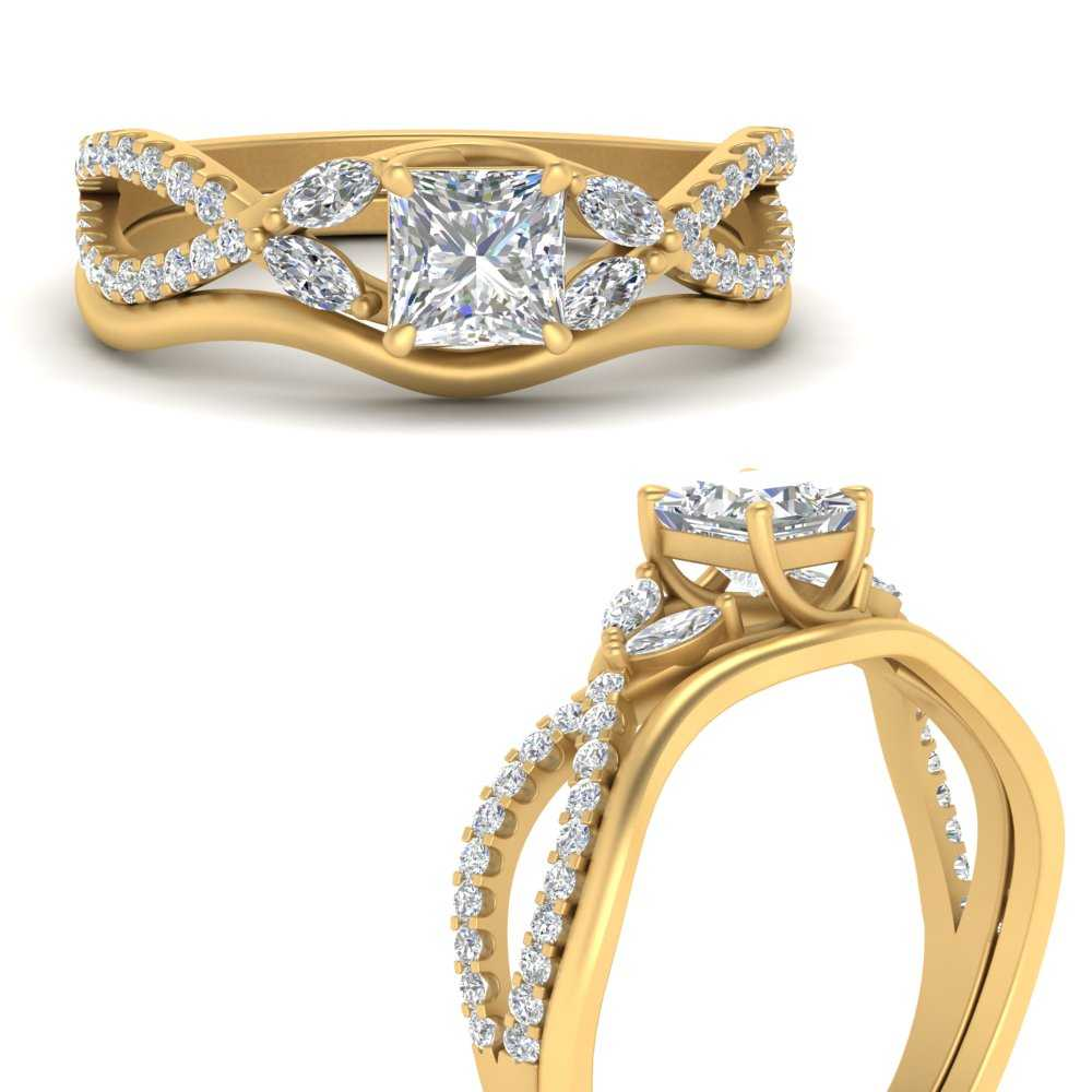 vine-split-band-princess-cut-diamond-wedding-set-in-FDENR3211PRANGLE3-NL-YG