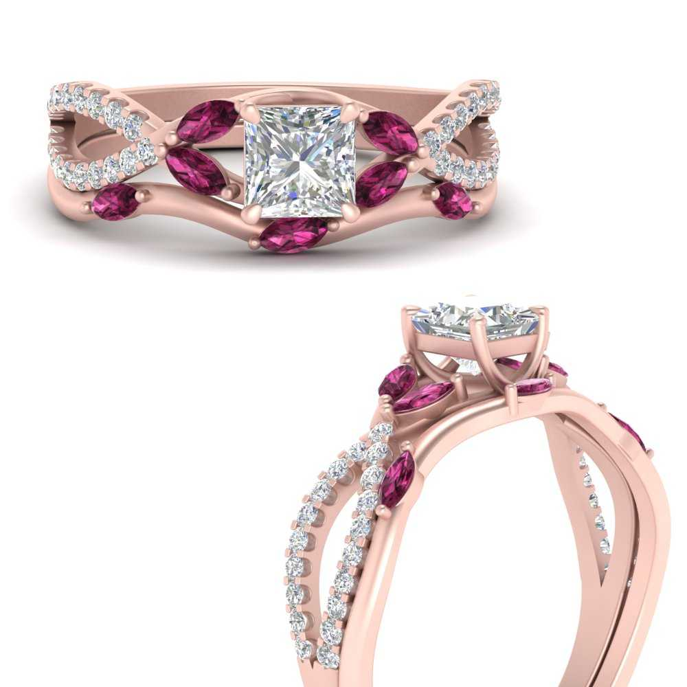 vine-willow-princess-cut-diamond-ring-with-pink-sapphire-willow-wedding-set-in-FDENR3211BPRGSADRPIANGLE3-NL-RG