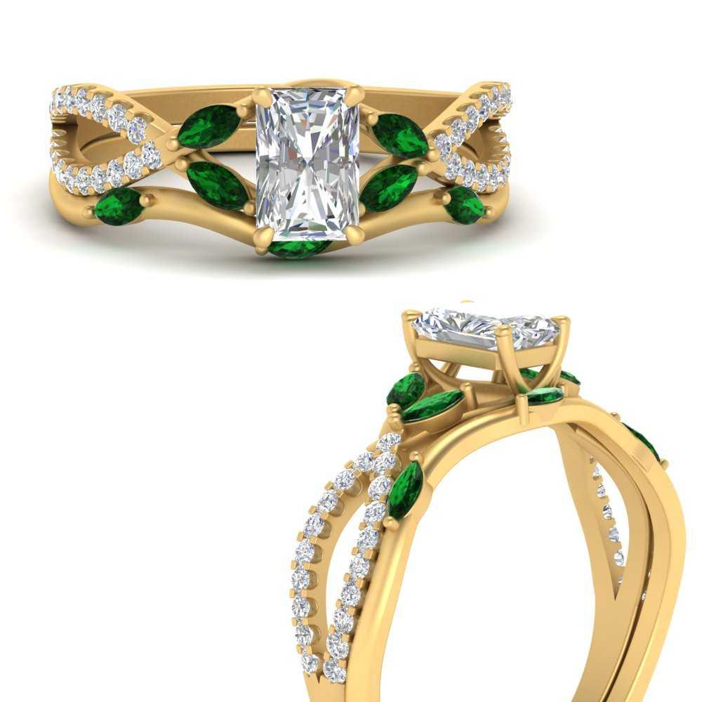 vine-willow-radiant-cut-diamond-ring-with-emerald-willow-wedding-set-in-FDENR3211BRAGEMGRANGLE3-NL-YG