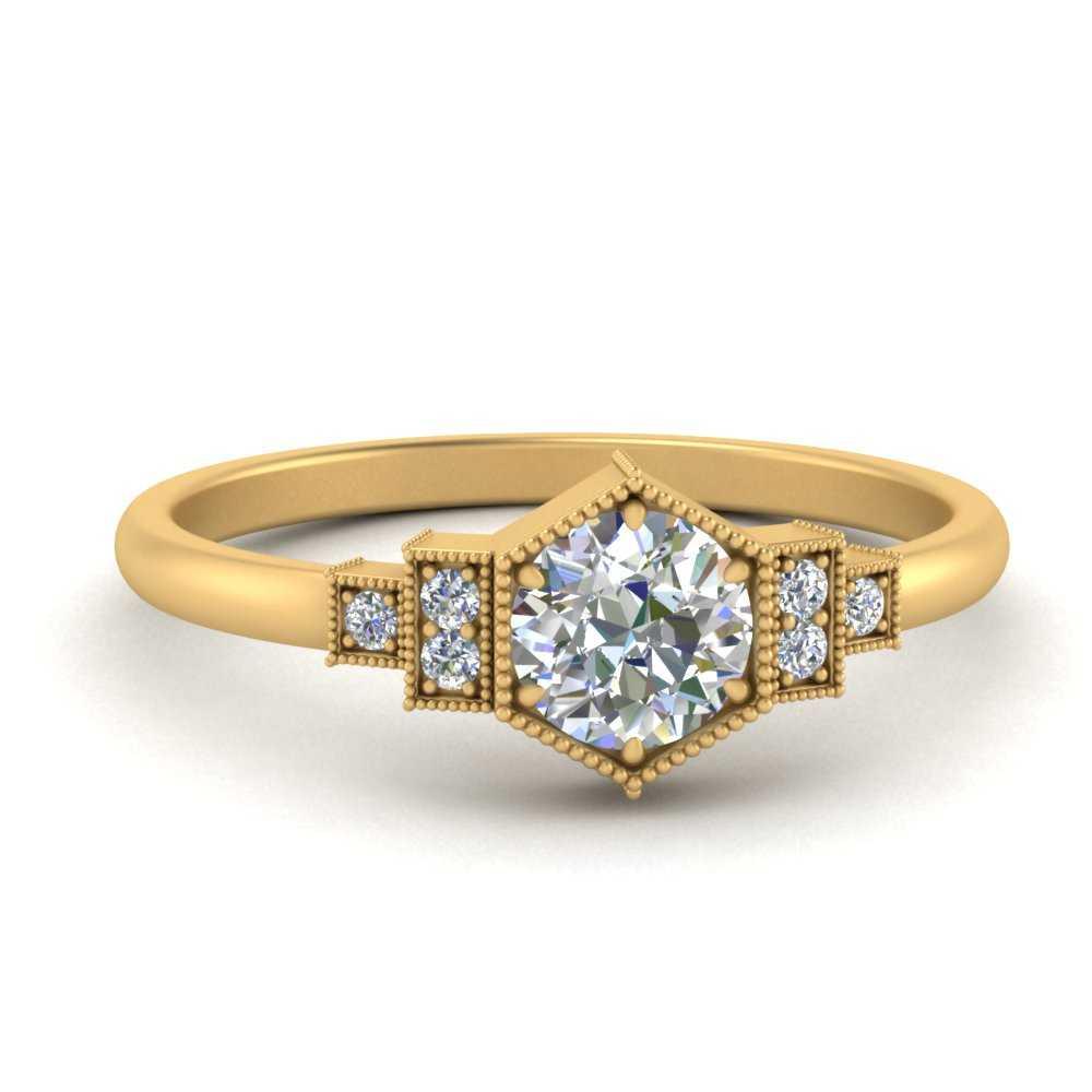 milgrain-hexagon-diamond-engagement-ring-in-FDENR3218ROR-NL-YG