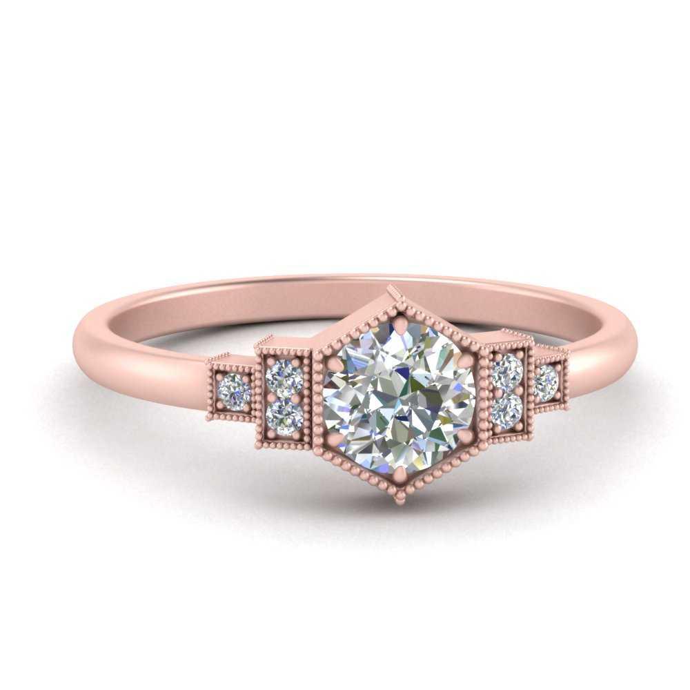 vintage-moissanite-round-moissanite engagement-ring-in-FDENR3218ROR-NL-RG