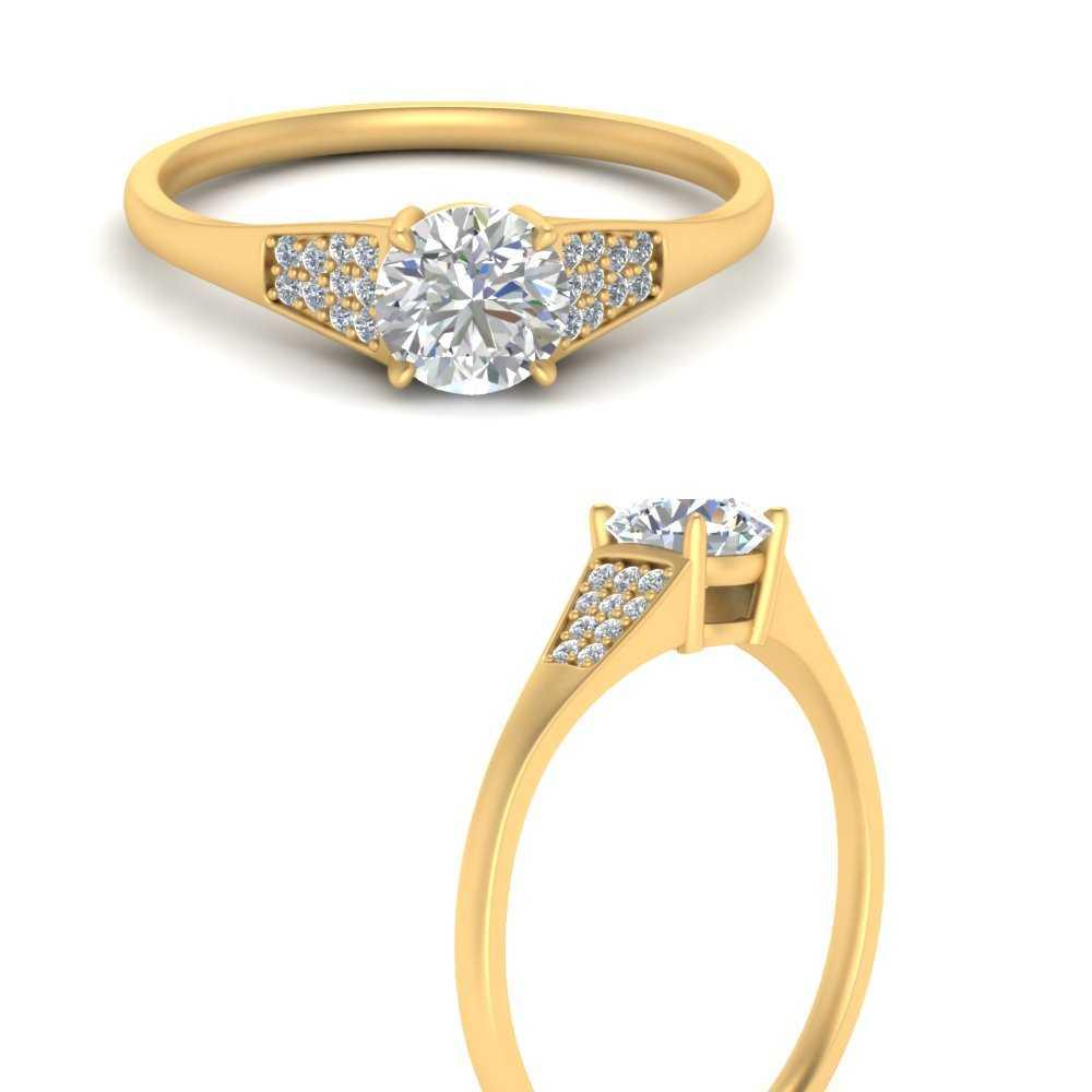 1.25-ct.-round-cut-cluster-diamond-ring-in-FDENR6171RORANGLE3-YG