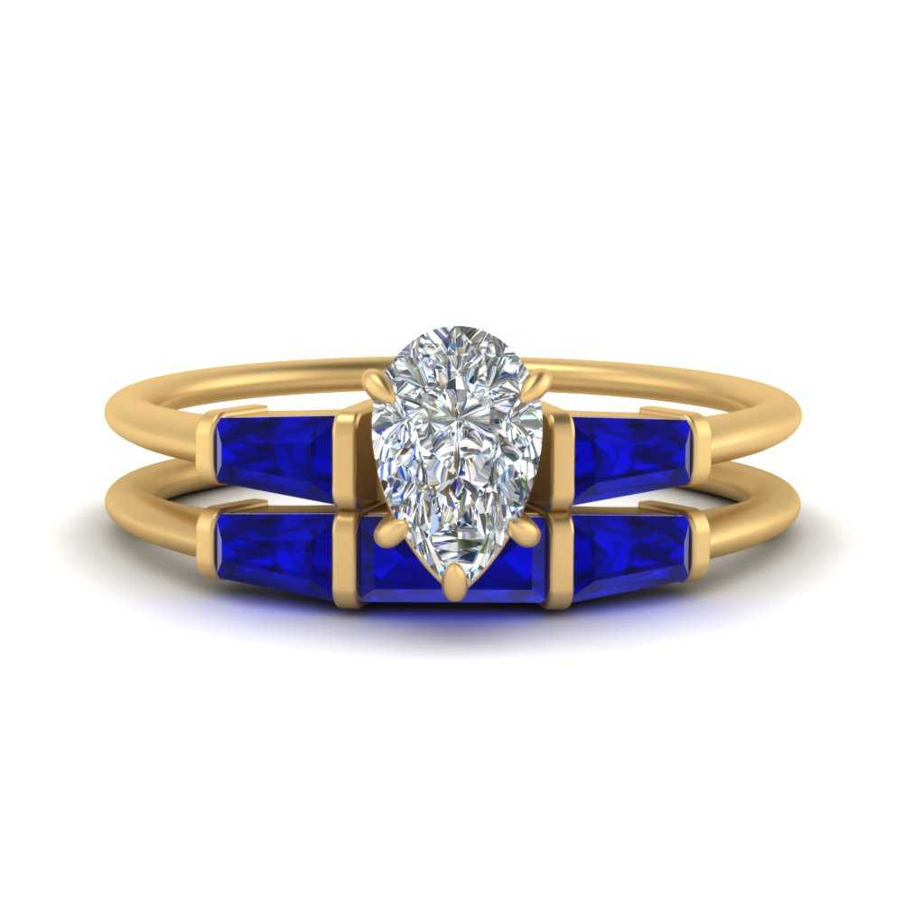 pear-shaped-bar-set-sapphire-ring-with-matching-3-baguette-wedding-band-in-FDENS100PEGSABL-NL-YG