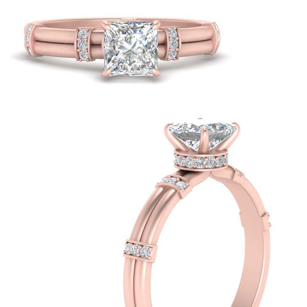 double-band-lab-created-princess-cut-lab diamond-ring-in-FDENS1157PRRANGLE3-NL-RG