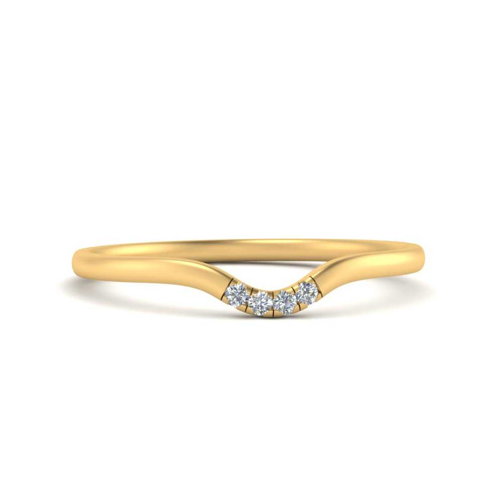 4-diamond-curved-band-for-solitaire-ring-in-FDENS1413B-NL-YG