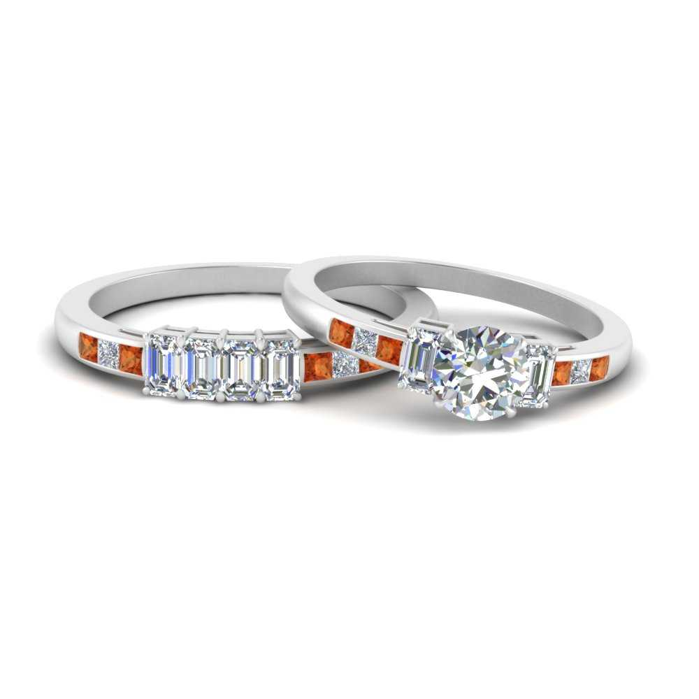 emerald-channel-set-round-cut-wedding-ring-set-with-orange-sapphire-in-FDENS207ROGSAOR-NL-WG
