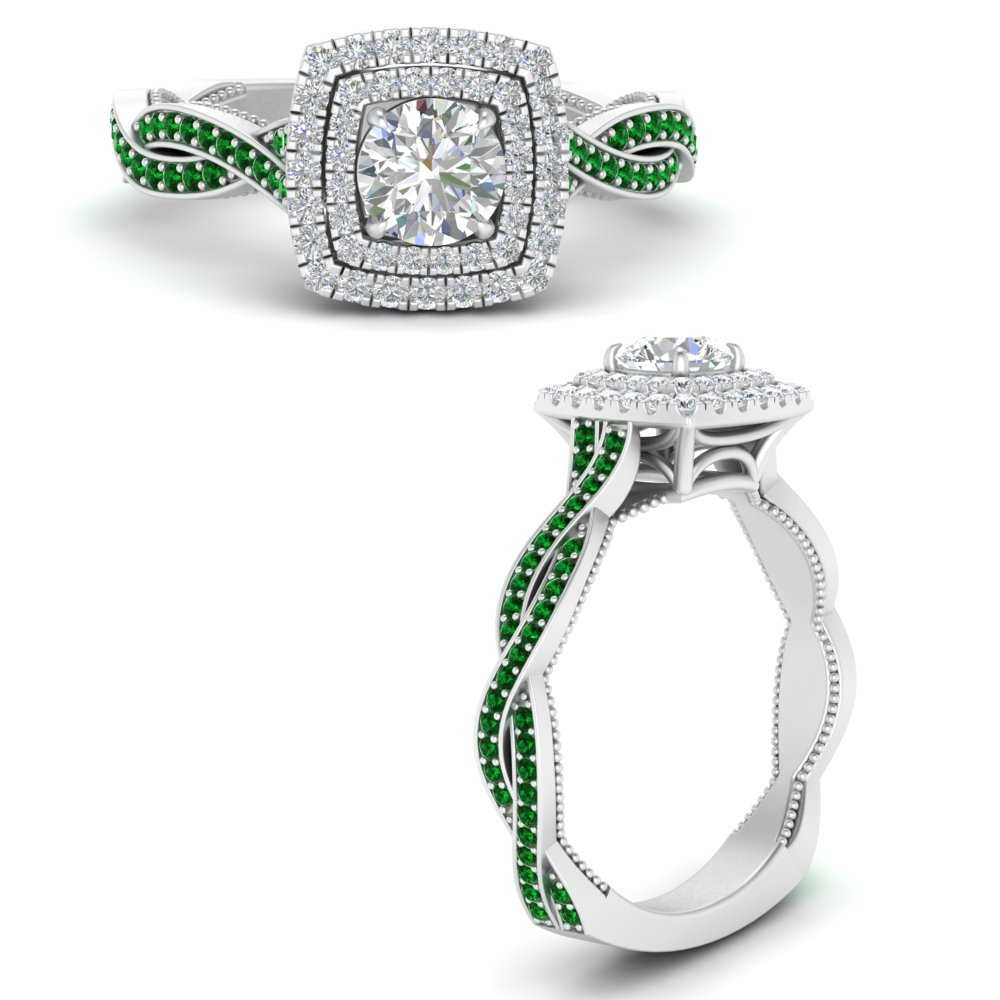 double-halo-twisted-shank-round-cut-emerald-engagement-ring-in-FDENS3203RORGEMGRANGLE3-NL-WG-GS