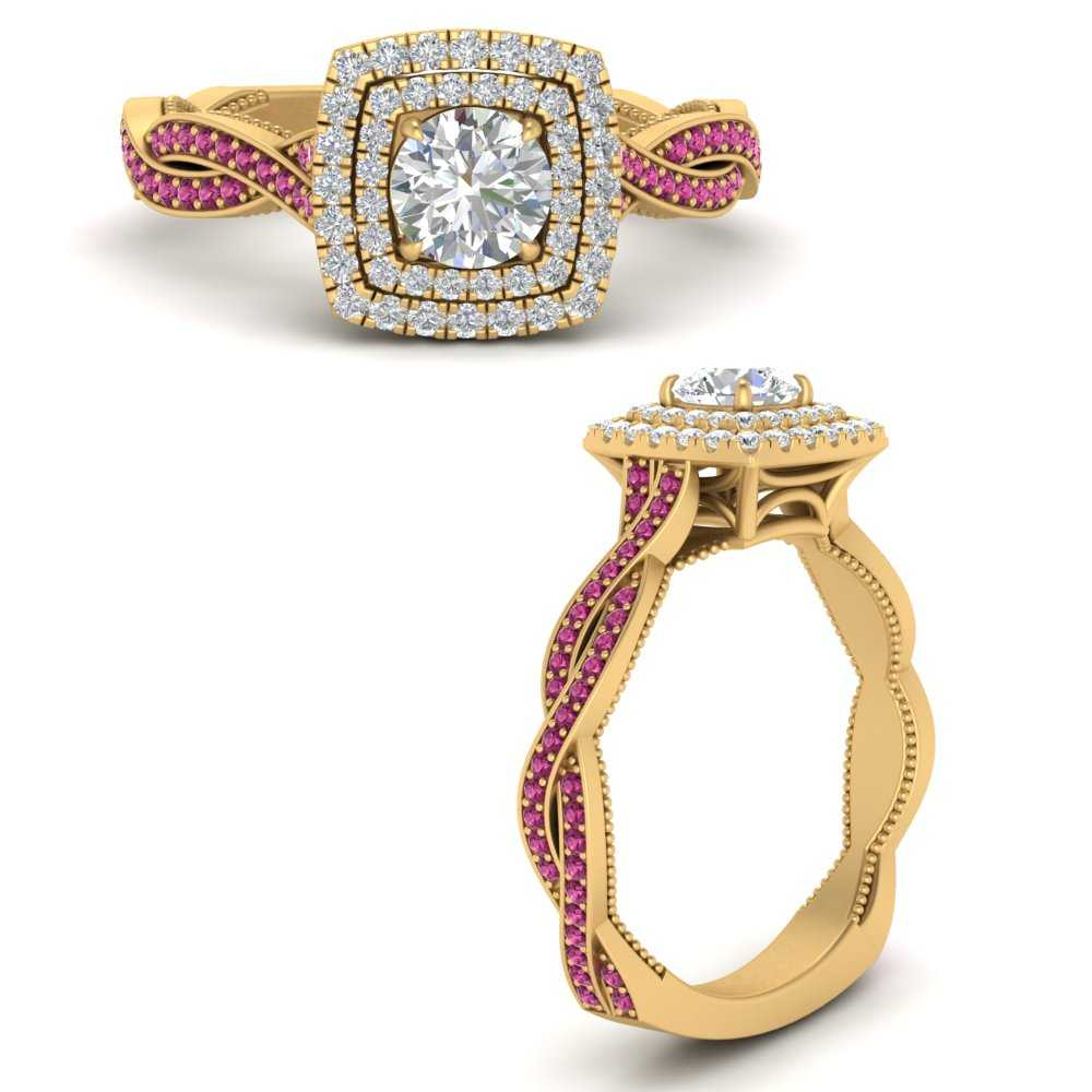 double-halo-twisted-shank-round-cut-pink-sapphire-engagement-ring-in-FDENS3203RORGSADRPIANGLE3-NL-YG-GS