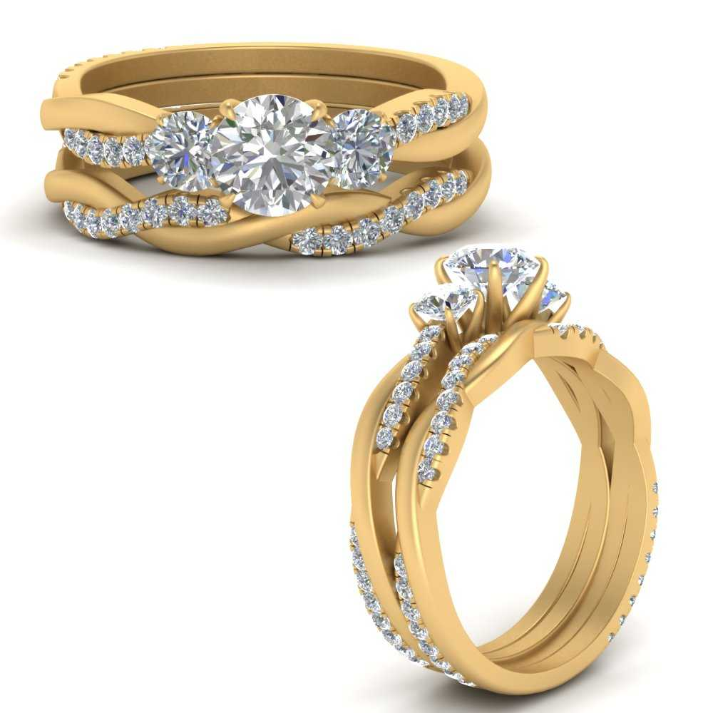 3-stone-twist-round-moissanite-engagement-ring-and-band-in-FDENS3301ROANGLE3-NL-YG