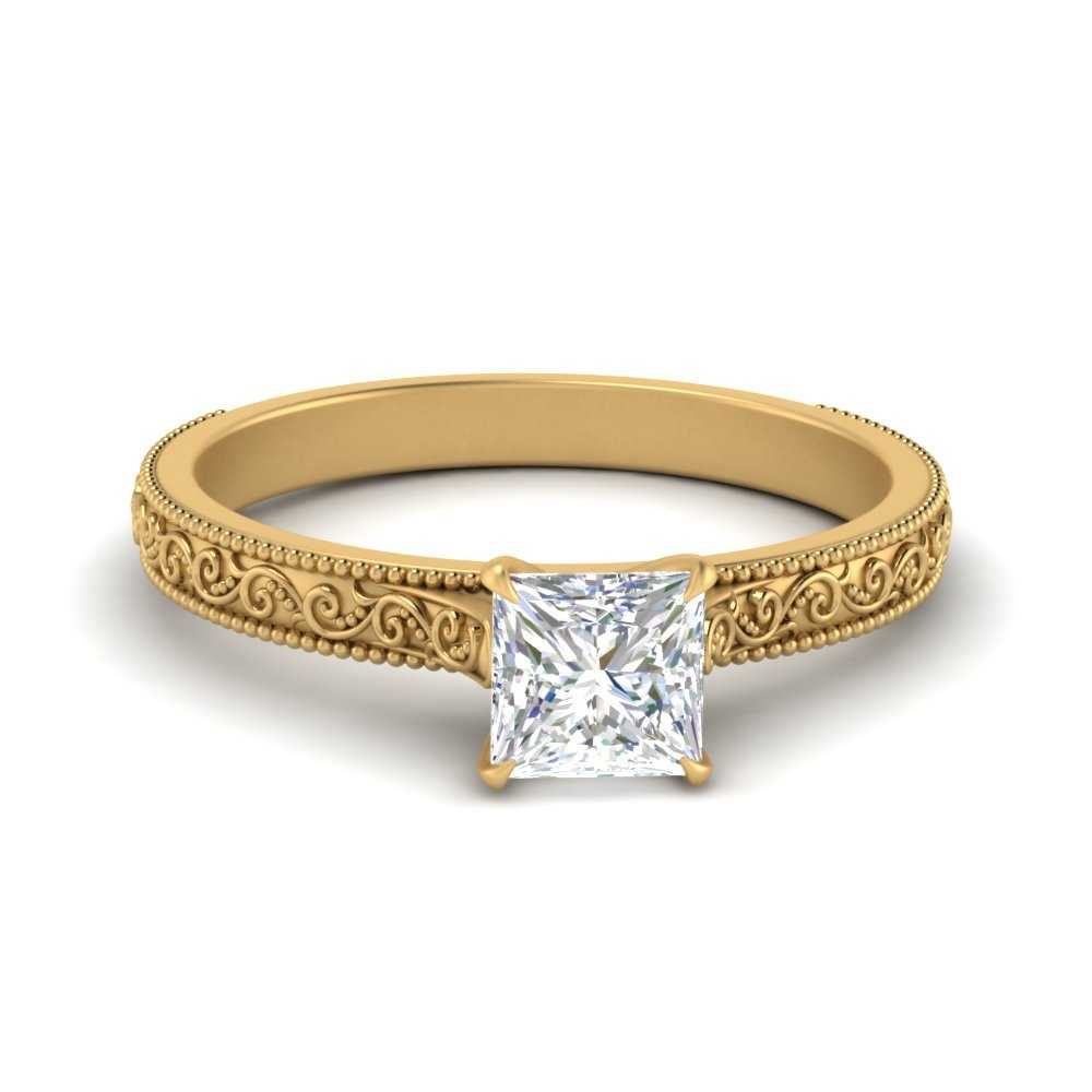 engraved-princess-cut-solitaire-engagement-ring-in-FDENS3602PRR-NL-YG