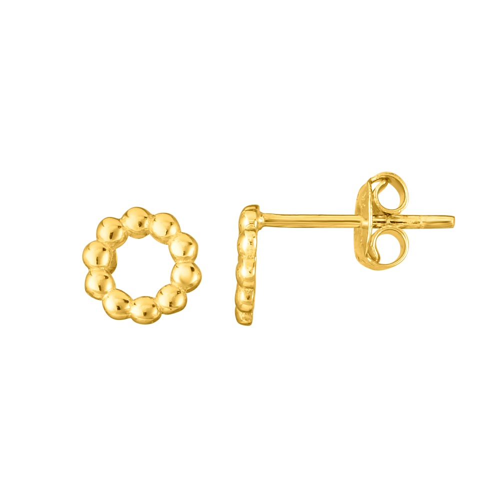 circle-14K-yellow-gold-beaded-earring-FDEAR86502-NL-YG