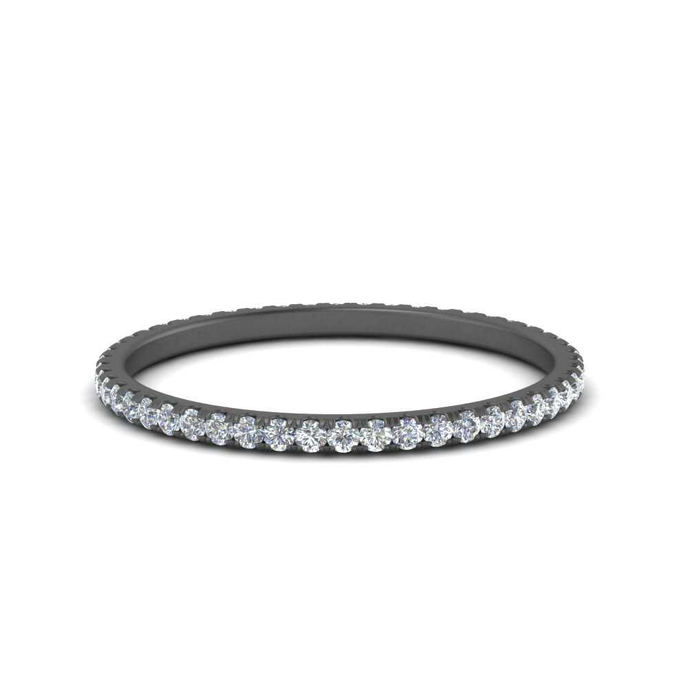 Stackable Black Eternity Band