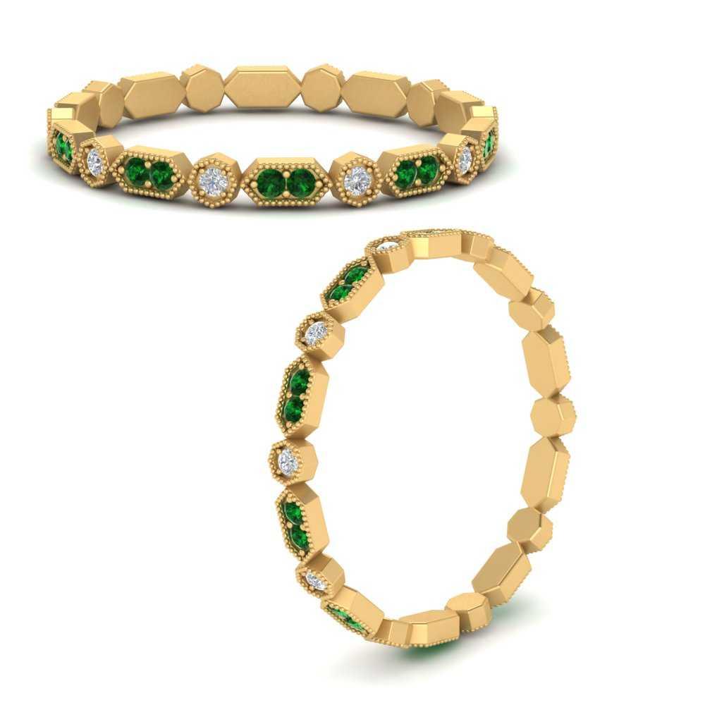 art-deco-thin-stacking-diamond-eternity-band-with-emerald-in-FDEWB9594GEMGRANGLE3-NL-YG