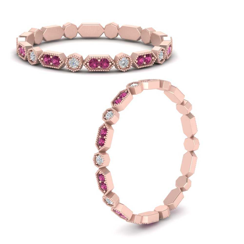art-deco-thin-stacking-diamond-eternity-band-with-pink-sapphire-in-FDEWB9594GSADRPIANGLE3-NL-RG