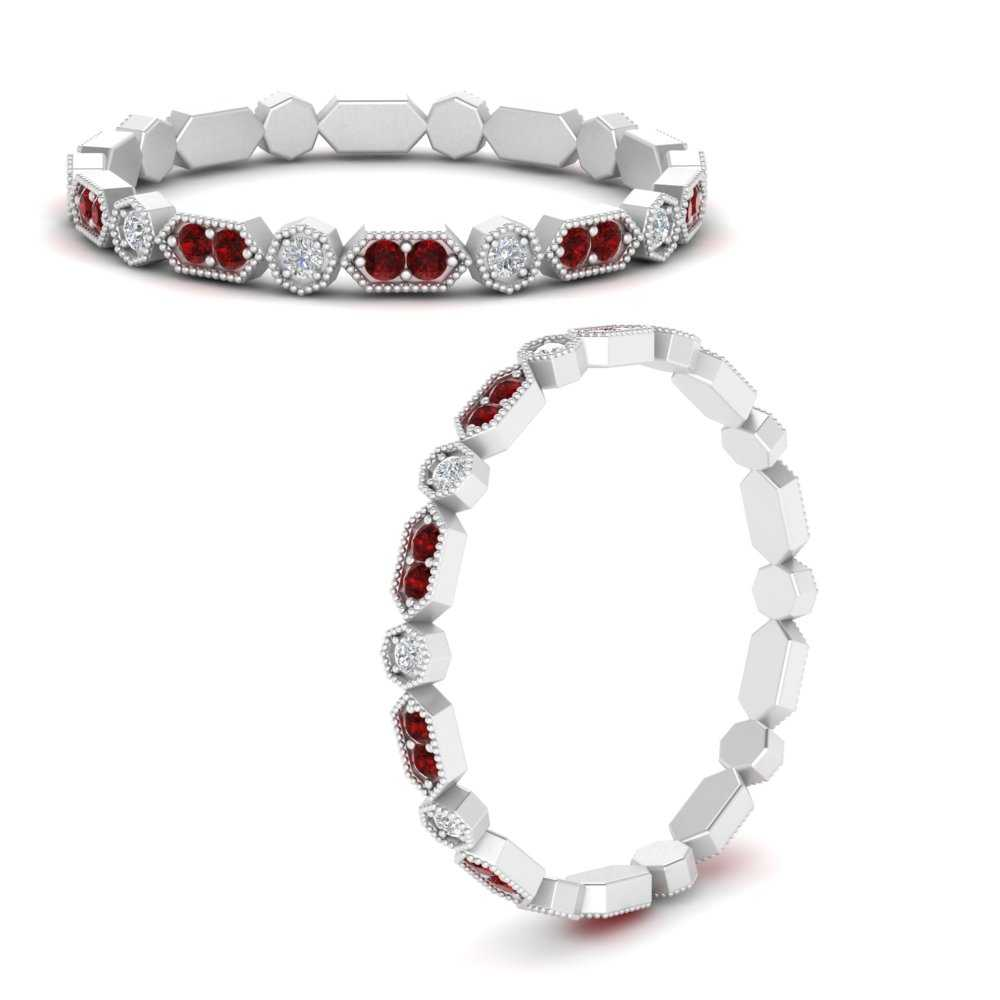 art-deco-thin-stacking-diamond-eternity-band-with-ruby-in-FDEWB9594GRUDRANGLE3-NL-WG