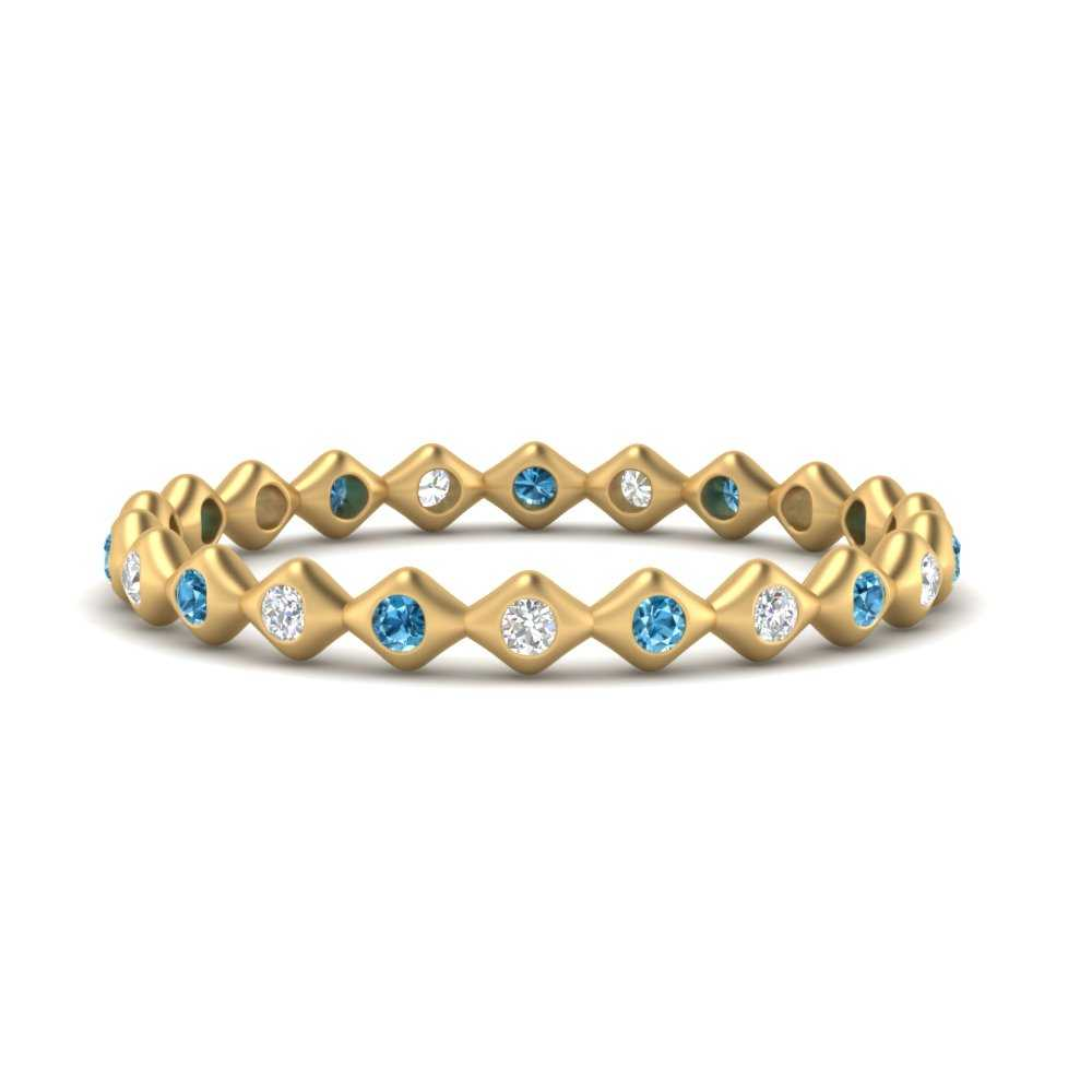 bezel-set-stacking-eternity-diamond-band-with-blue-topaz-in-FDEWB9678BGICBLTO-NL-YG