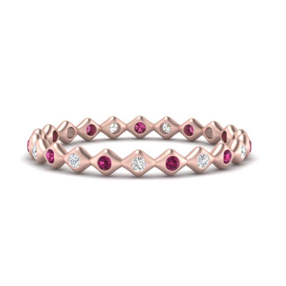 bezel-set-stacking-eternity-diamond-band-with-pink-sapphire-in-FDEWB9678BGSADRPI-NL-RG