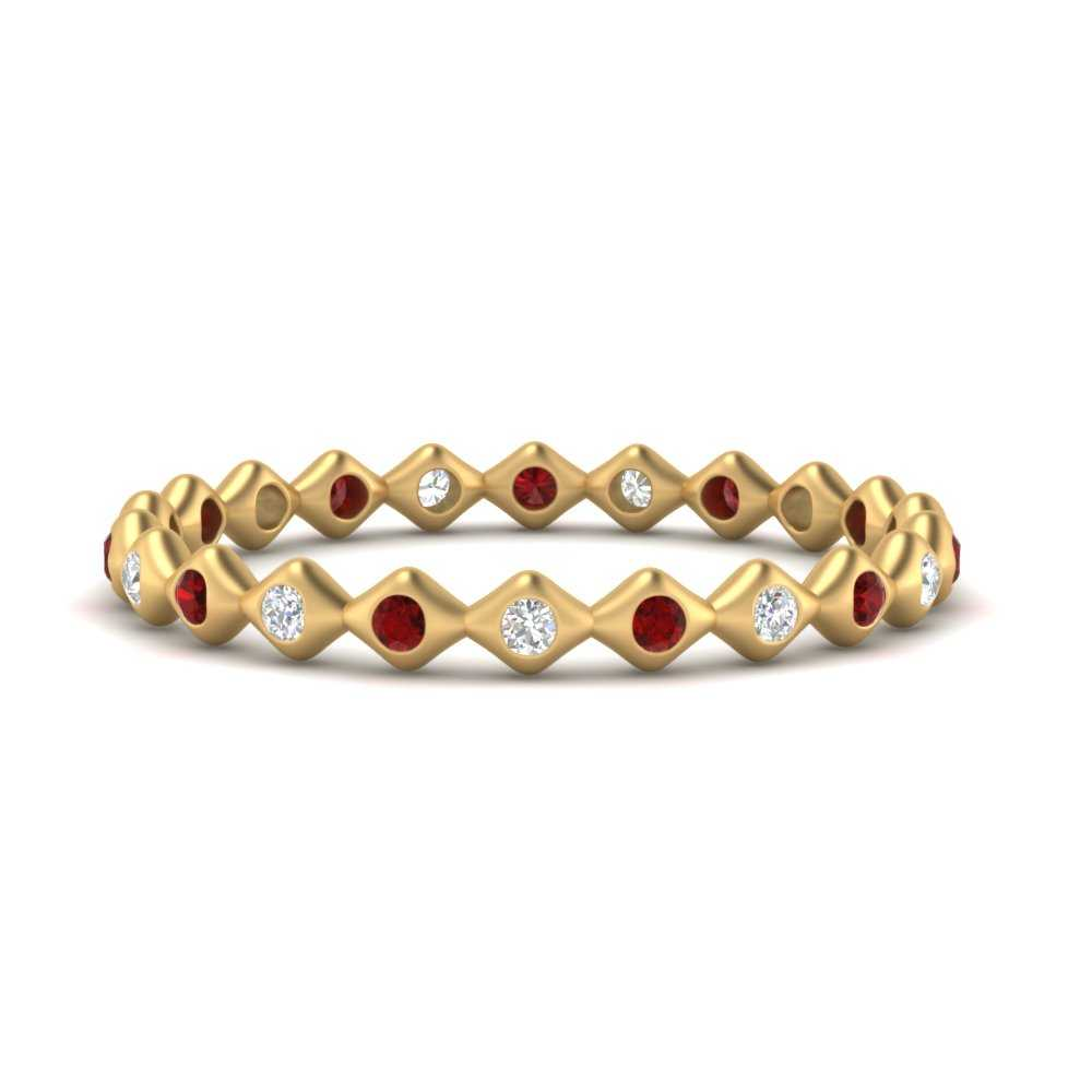 bezel-set-stacking-eternity-diamond-band-with-ruby-in-FDEWB9678BGRUDR-NL-YG
