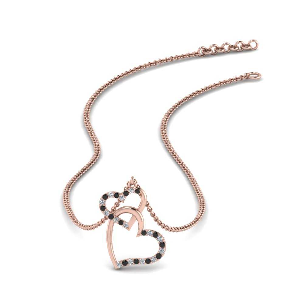 double-heart-pendant-with-black-diamond-in-FDHPD328GBLACK-NL-RG