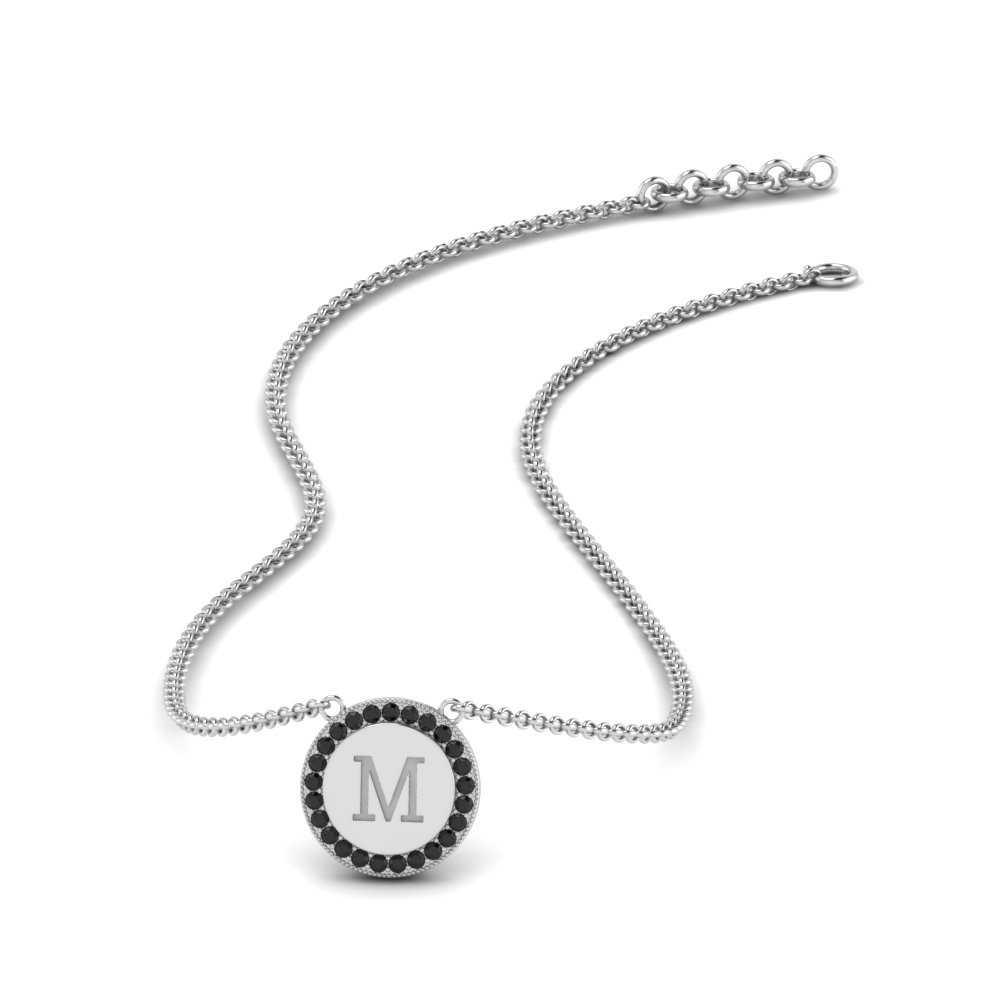 initial-engraved-black-diamond-disc-pendant-in-FDPD9527GBLACK-NL-WG