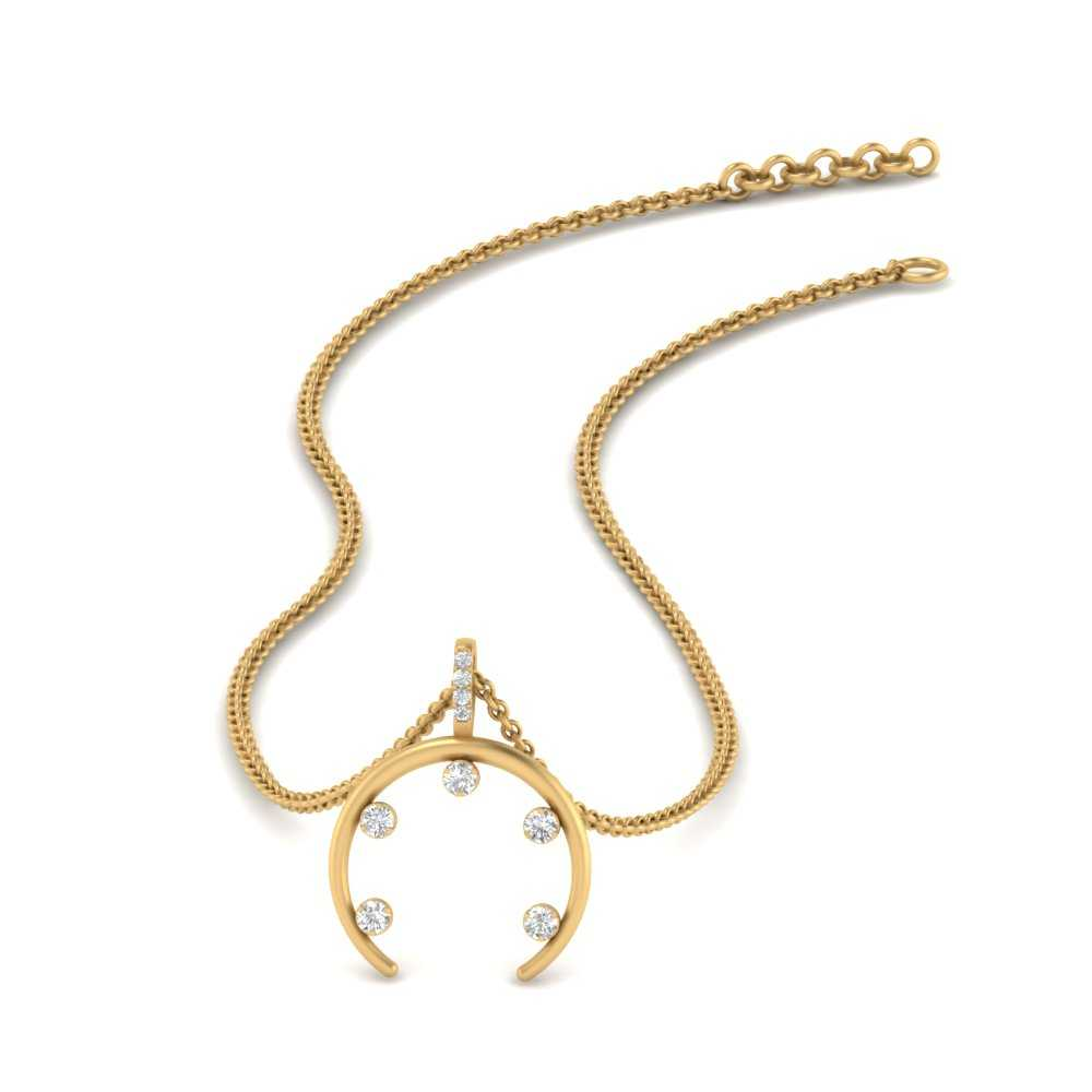 horn-5-prong-diamond-necklace-in-FDPD9041-NL-YG