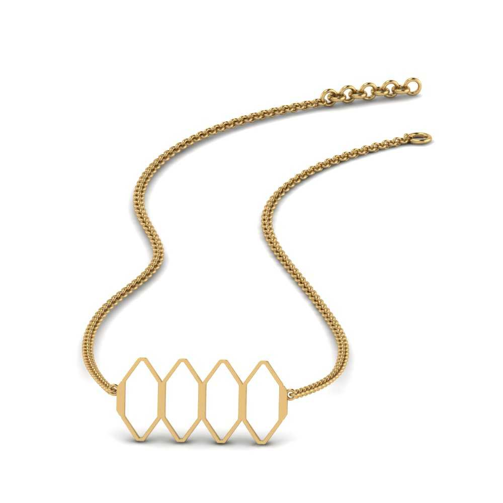 cute-honeybee-hive-gold-necklace-in-FDPD9589-NL-YG