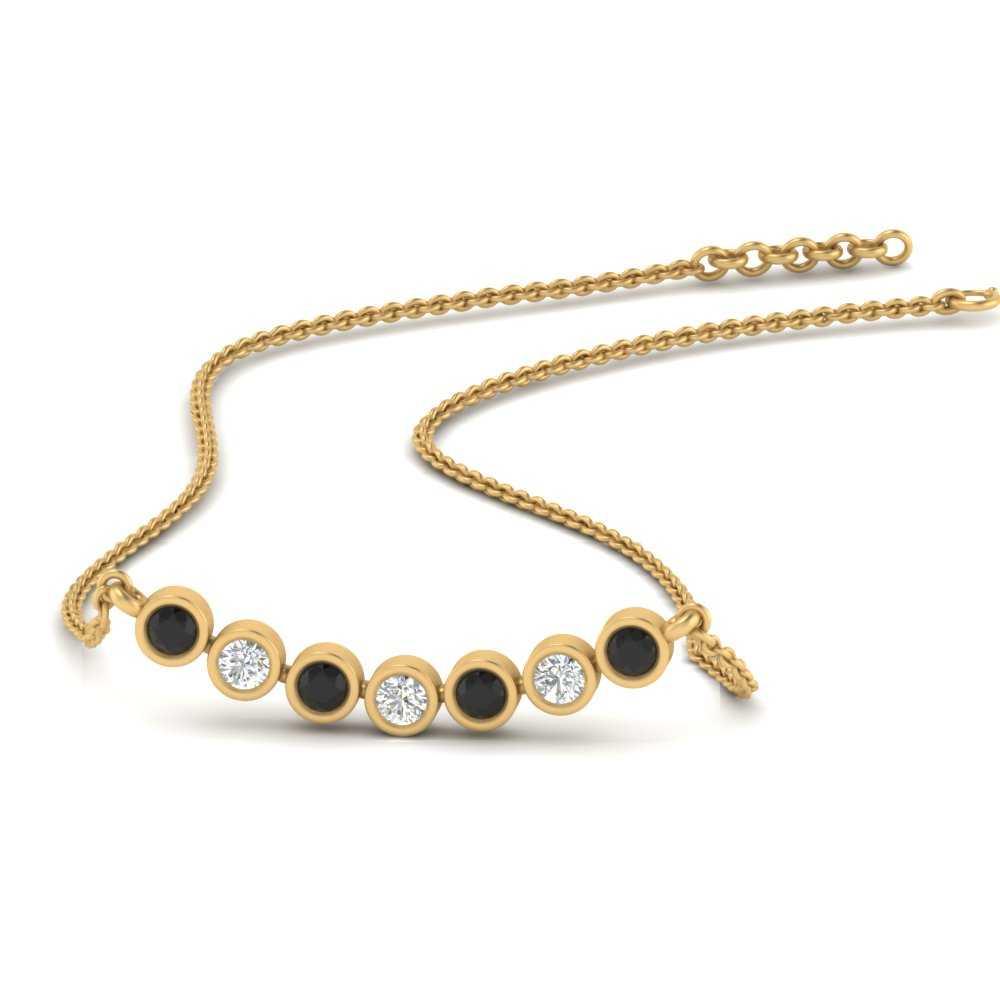 bezel-set-anniversary-black-diamond-necklace-in-FDPD9737GBLACK-NL-YG